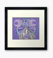 Celtic moon Goddess Framed Print