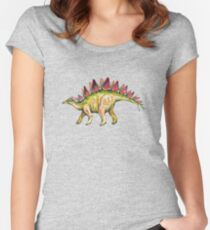 My friend Stegosaurus Women's Fitted Scoop T-Shirt