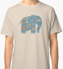 blue embroidered elephant Classic T-Shirt
