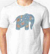 blue embroidered elephant Unisex T-Shirt