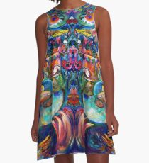 Orphan Child with Flowers A-Line Dress