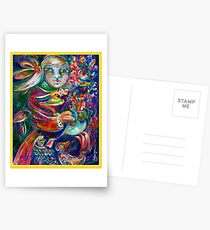 Orphan Child with Flowers Postcards