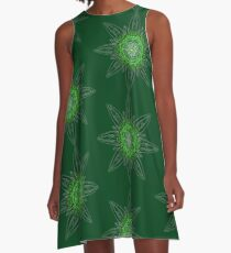 Green Star A-Line Dress