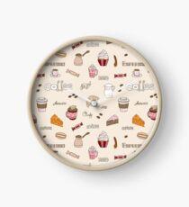 Coffee pattern Clock