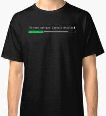 Sudo apt-get install muscles Classic T-Shirt