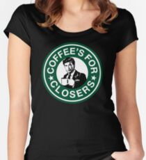 Coffee's for Closers Parody Women's Fitted Scoop T-Shirt