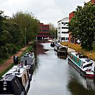 """""""Union Canal lock basin."""" by Malcolm Chant"""
