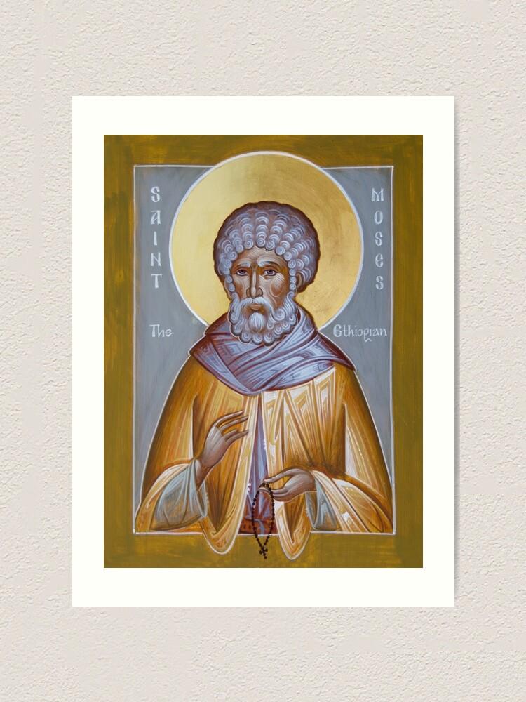 Alternate view of St Moses the Ethiopian Art Print