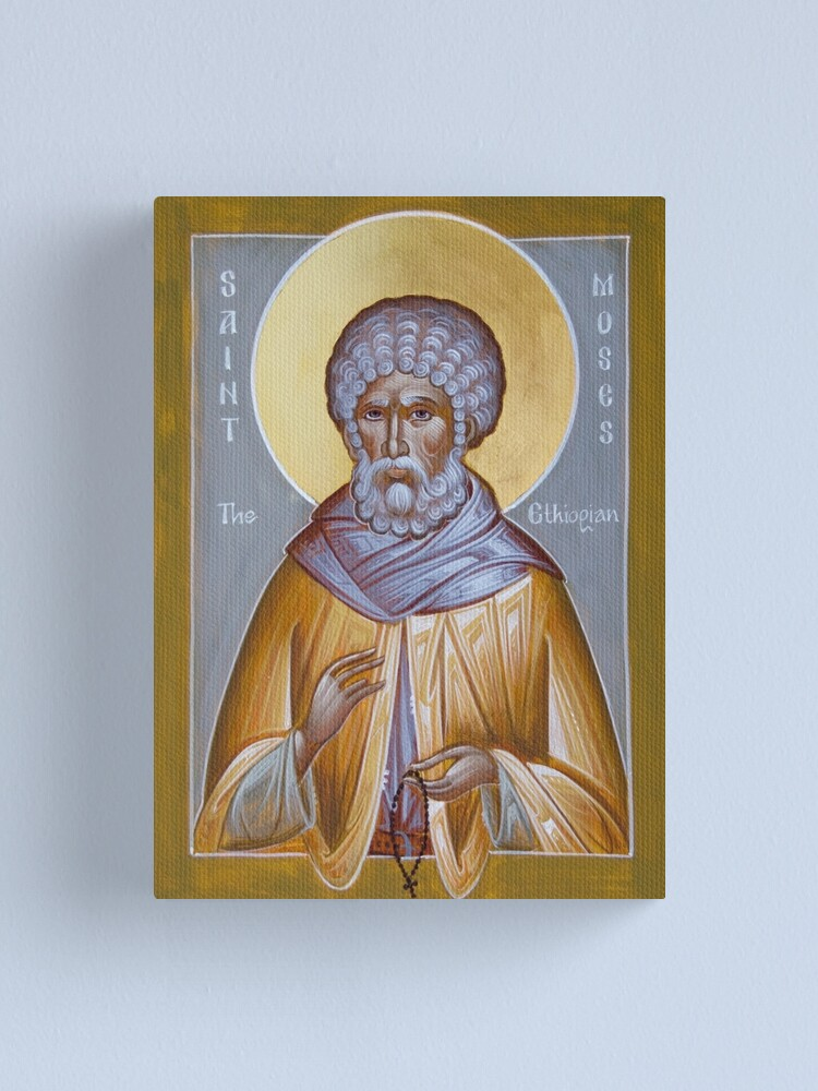 Alternate view of St Moses the Ethiopian Canvas Print