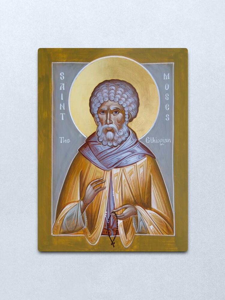 Alternate view of St Moses the Ethiopian Metal Print
