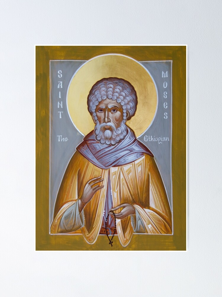 Alternate view of St Moses the Ethiopian Poster