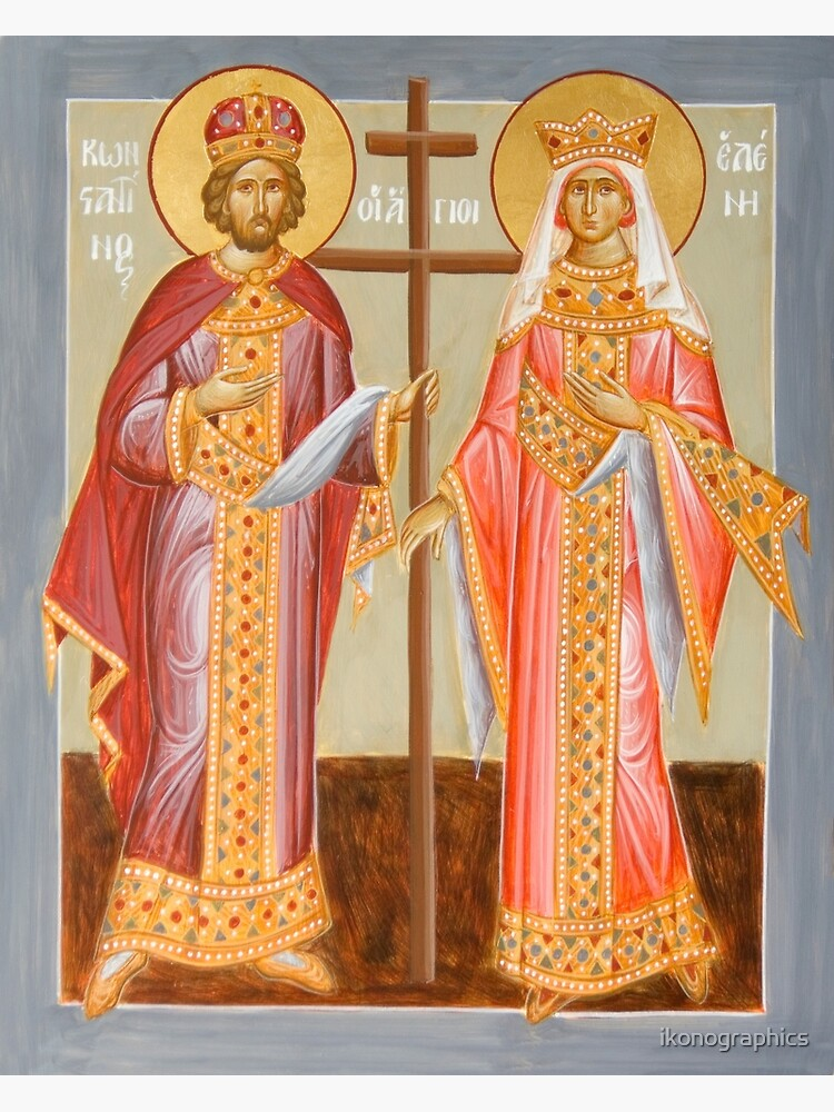 Sts Constantine and Helen by ikonographics