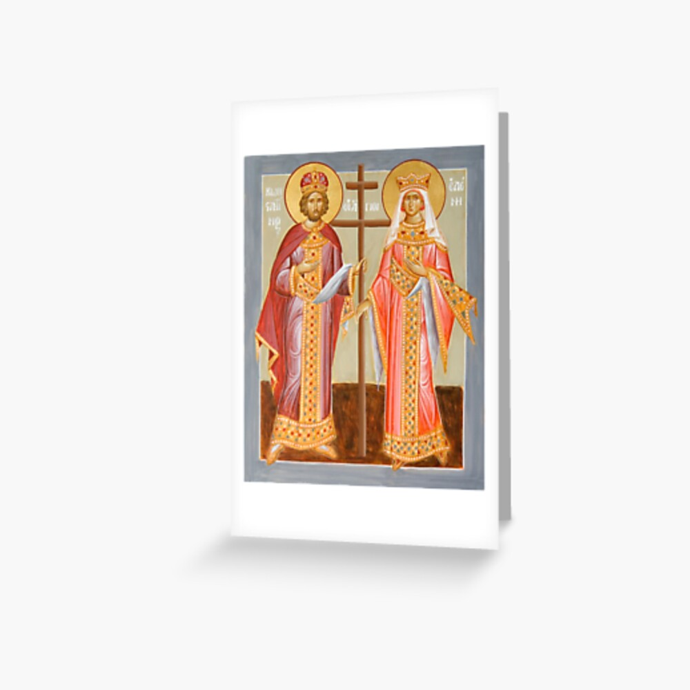 Sts Constantine and Helen Greeting Card