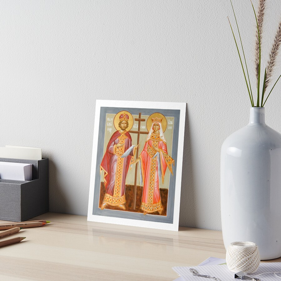 Sts Constantine and Helen Art Board Print