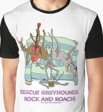 Rescue Greyhounds Rock and Roach. Graphic T-Shirt