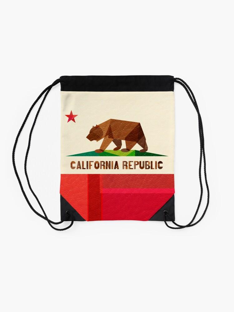 Alternative Ansicht von Kalifornien Turnbeutel