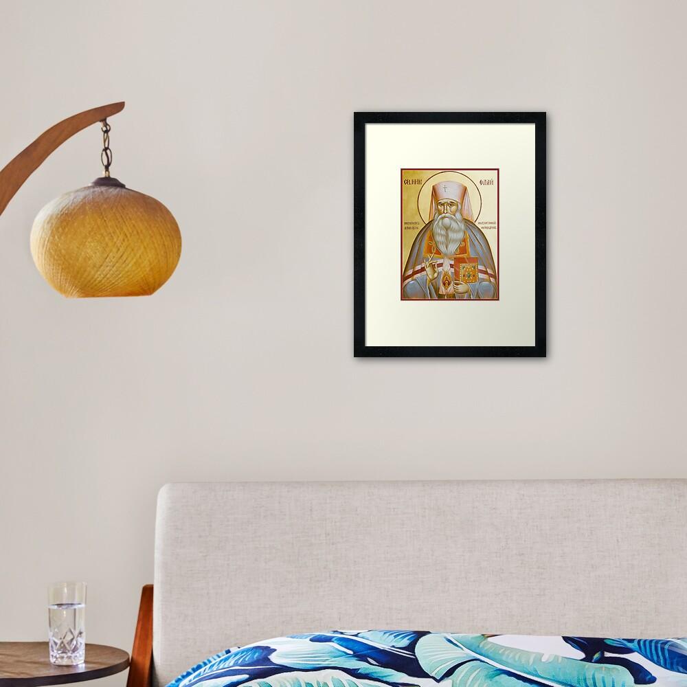 St Nicholas the Confessor of Alma Ata and Kazakhstan Framed Art Print