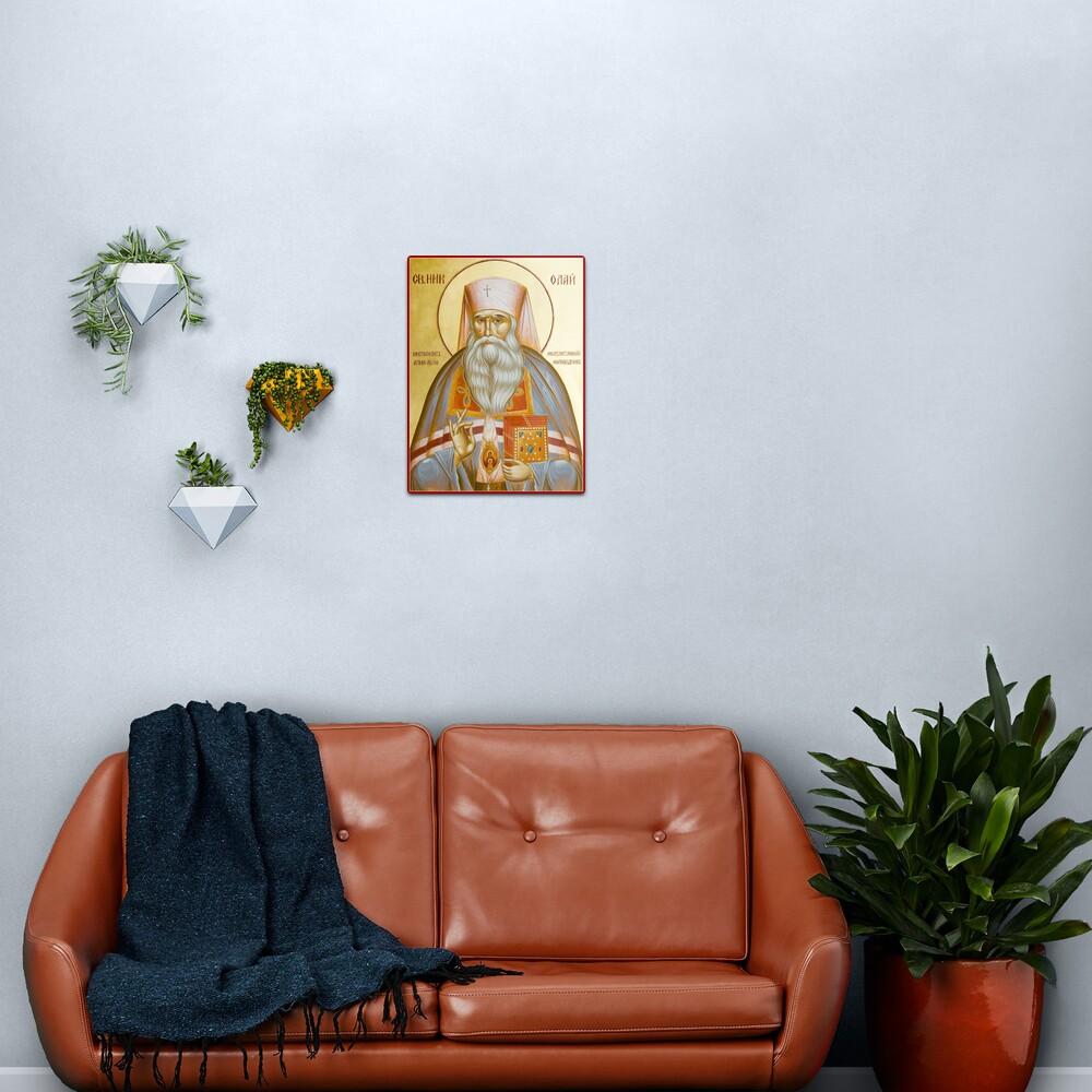 St Nicholas the Confessor of Alma Ata and Kazakhstan Metal Print
