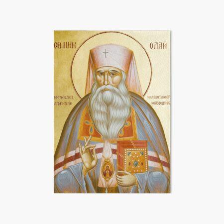 St Nicholas the Confessor of Alma Ata and Kazakhstan Art Board Print