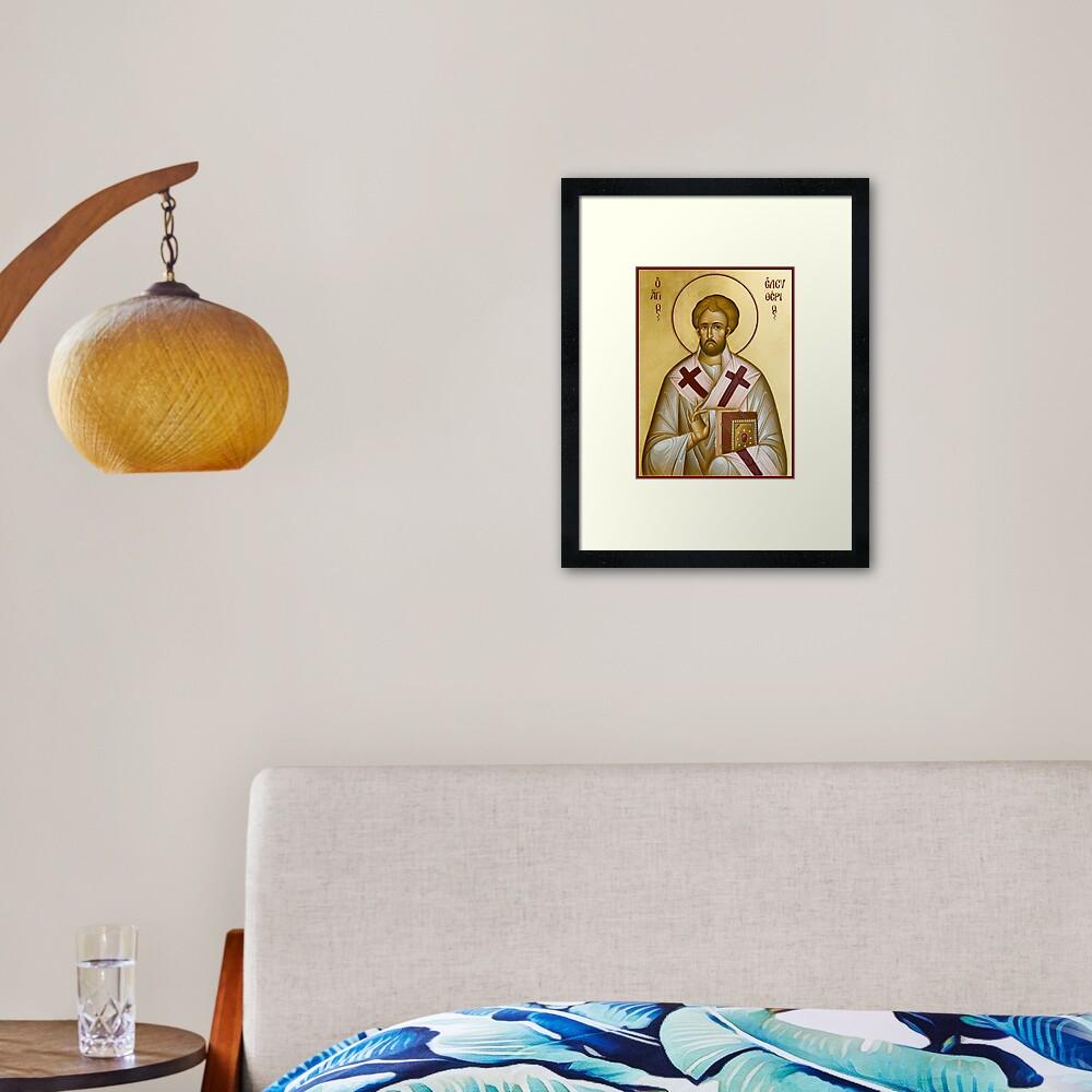 St Eleftherios Framed Art Print