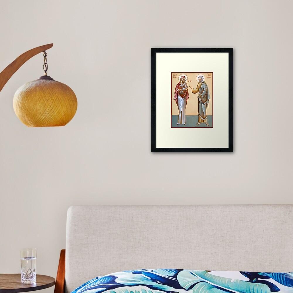Sts Joachim and Anna Framed Art Print