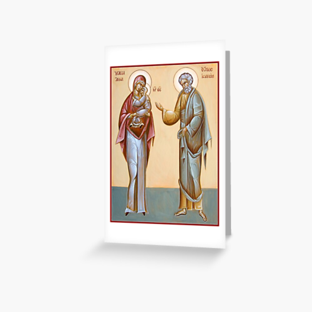 Sts Joachim and Anna Greeting Card