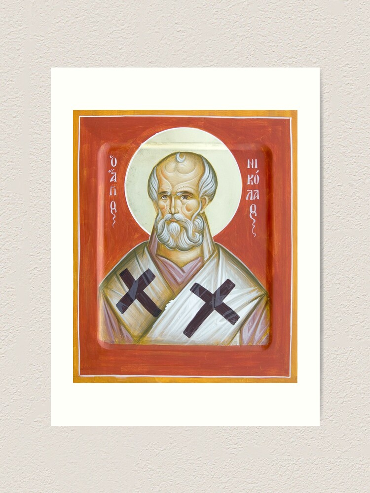 Alternate view of St Nicholas of Myra Art Print