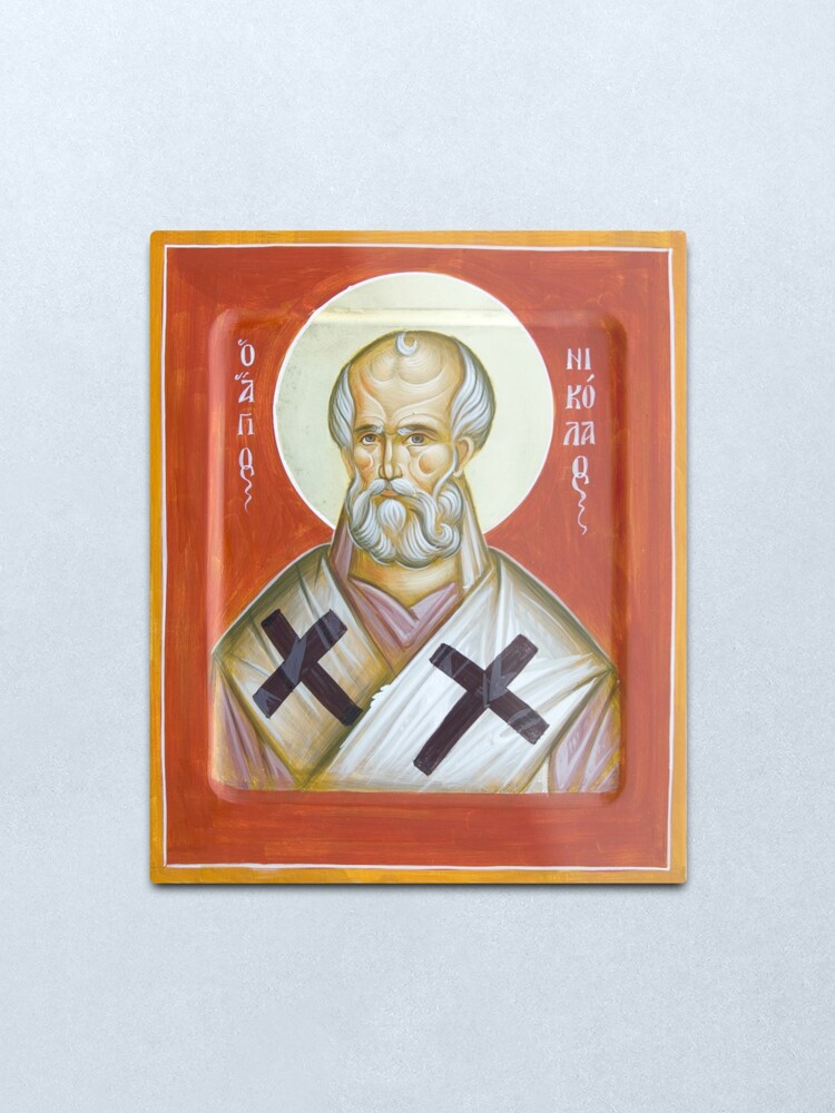 Alternate view of St Nicholas of Myra Metal Print