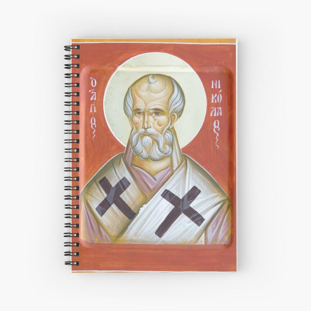 St Nicholas of Myra Spiral Notebook