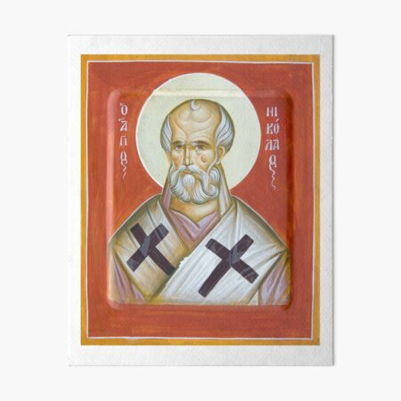 St Nicholas of Myra Art Board Print