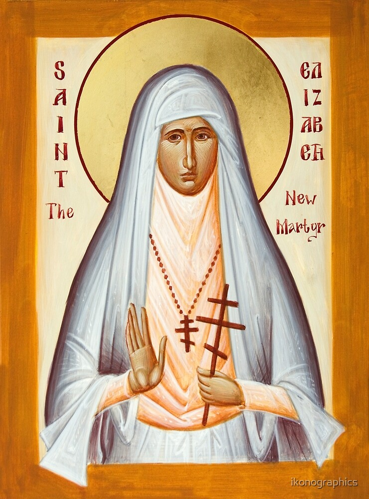 St Elizabeth the New Martyr by ikonographics