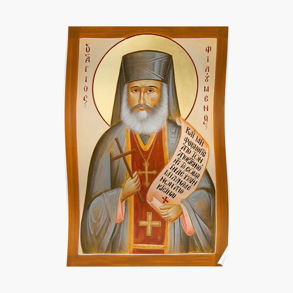 St Philoumenos of Jacob's Well Poster