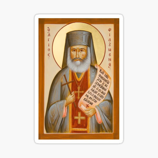 St Philoumenos of Jacob's Well Sticker