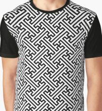 Sayagata pattern Graphic T-Shirt