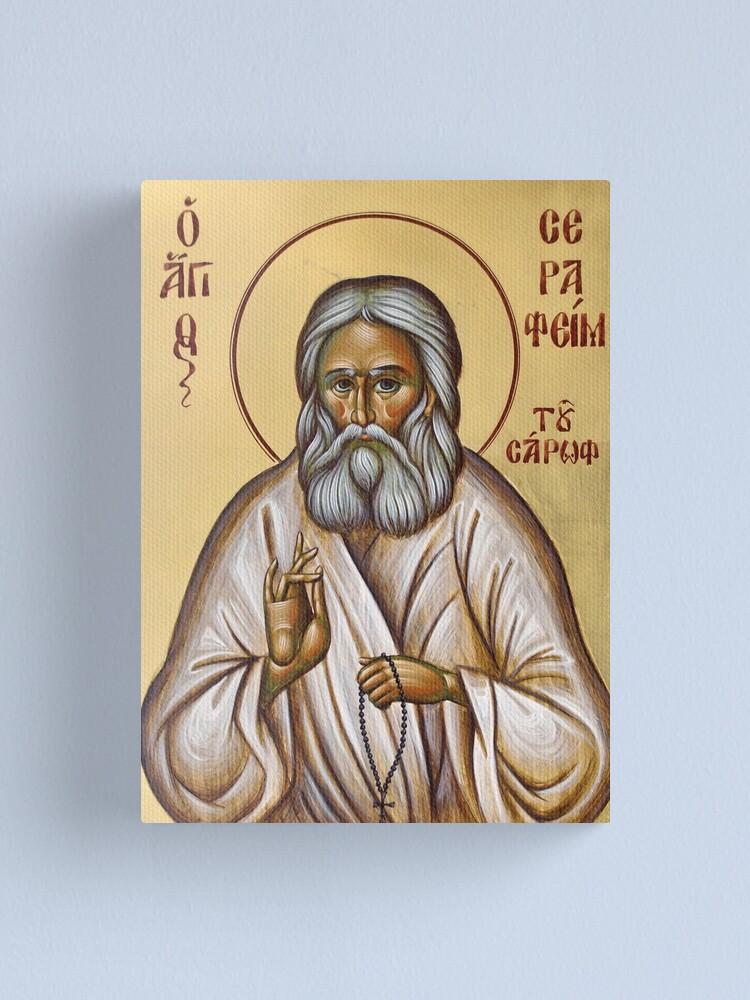 Alternate view of St Seraphim of Sarov Canvas Print