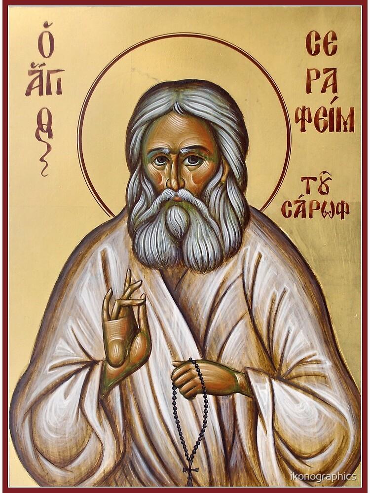 St Seraphim of Sarov by ikonographics