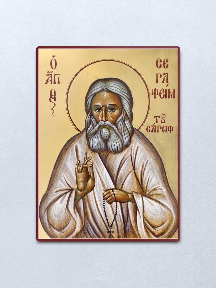 Alternate view of St Seraphim of Sarov Metal Print