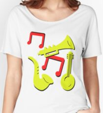 Doctor Who Ace Music Instruments Remembrance Daleks Women's Relaxed Fit T-Shirt