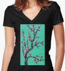 Arizona Blossom Women's Fitted V-Neck T-Shirt
