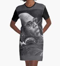 Carl Cox Pencil Drawing Graphic T-Shirt Dress