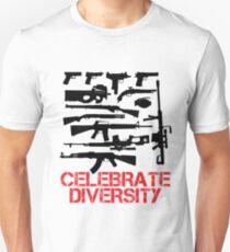 Celebrate Guns Diversity Graphic Design T-Shirt