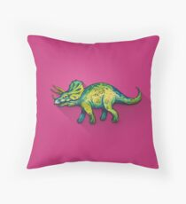 My friend Triceratops Throw Pillow