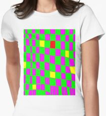Funky gingham green n purple T-Shirt