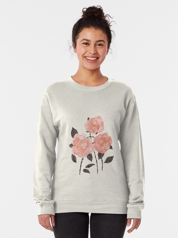 Alternate view of three roses  Pullover Sweatshirt