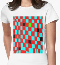 Funky gingham red n blue T-Shirt