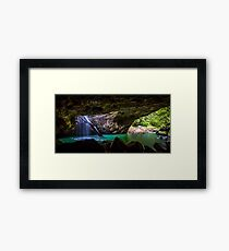 Natural arch waterfall Framed Print