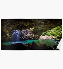 Natural arch waterfall Poster