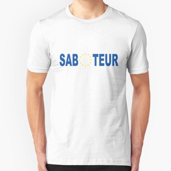 Proud Saboteur (Blue) Slim Fit T-Shirt