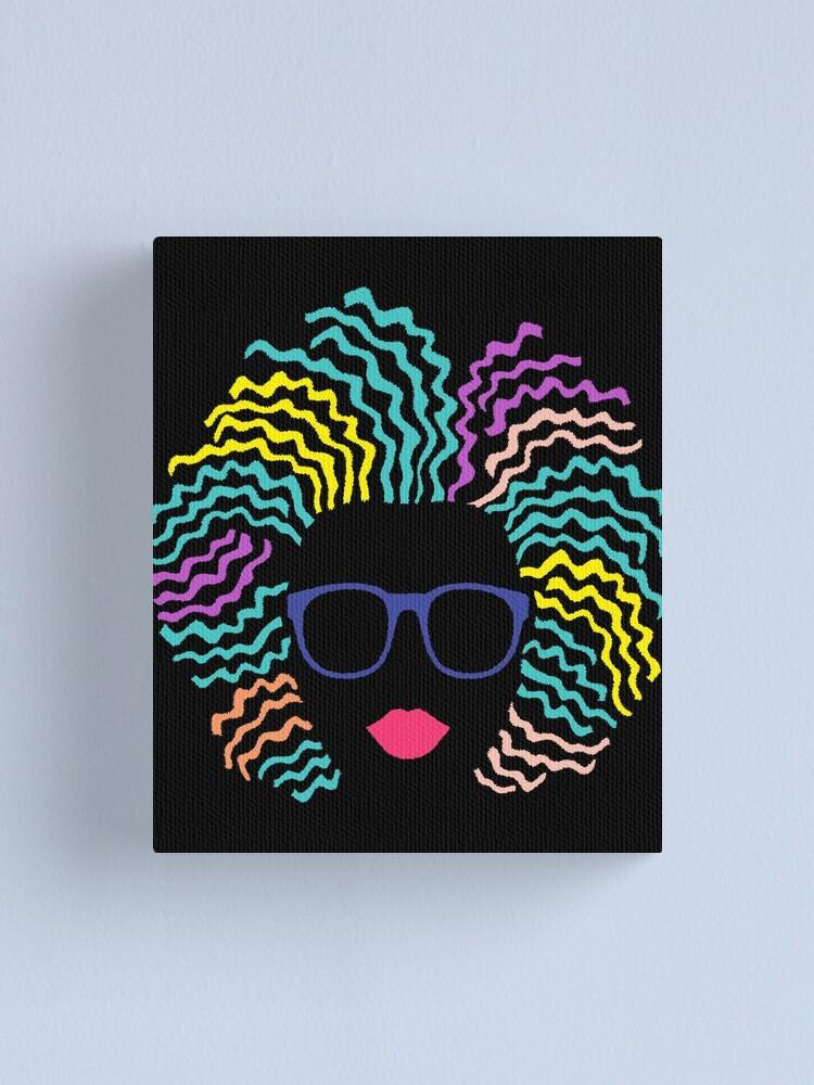 Black afro girl canvas art