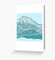 Distant Snow- 遠雪 : linocut Greeting Card